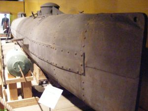 Hunley submarine replica