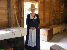 Woman settler in servant quarter