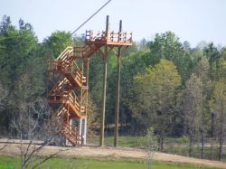 Cedar Tower - launch pad for the 3rd zip line