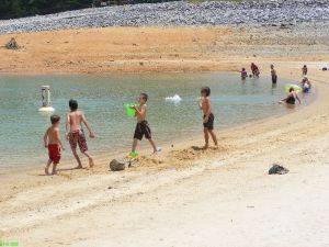 Boys having fun at Lake Jocassee