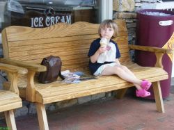Enjoying Kilwin ice-cream downtown Highlands