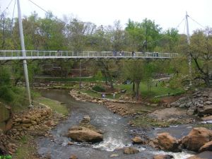Falls and bridge downtown Greenville