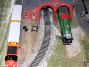 Train model at Dillsboro Depot