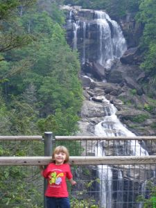 At Upper Whitewater Falls