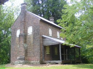 William Richards 1805 house at Oconee Historic Station