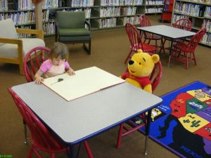 Reading with Pooh at the Seneca Library