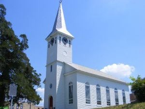 1853 Saint John Lutheran Church in Walhalla (original building still standing!)