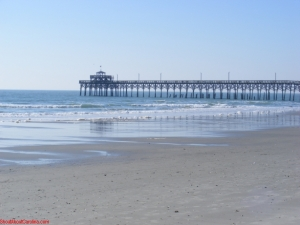 The fishing pier at Cherry Grove Beach