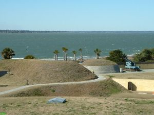 Inside Fort Moultrie