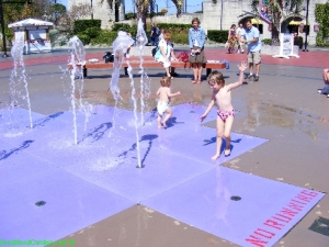 Water splashing fun at Broadway at the Beach