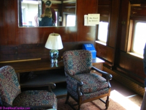 Onboard Norfolk passenger car