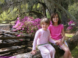 Cheese! Magnolia Plantation beautiful gardens in Spring