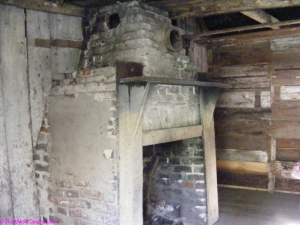 Inside slave cabin at Magnolia Plantation in Charleston