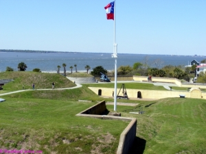 Inside Fort Moultrie National Park