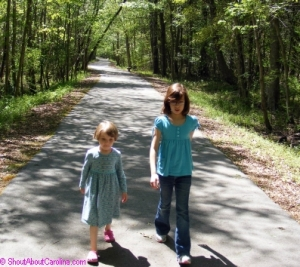 Kids walking on the Great Walterboro Swamp trails