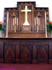 Beautiful altar designed by USS New Hampshire sailors after Civil War