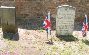 British Officers died during Revolutionary battle of Port Royal at Gray's Hill