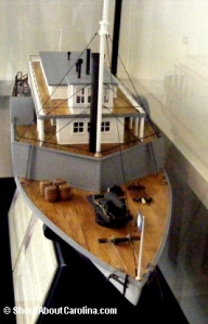 Model of the Planter Confederate ship