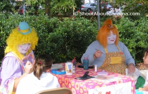 Funny Face Painting downtown Cheraw