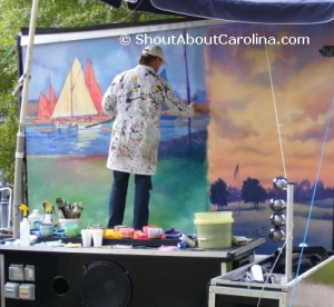 Live painting demonstration