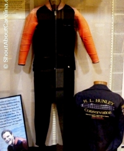 Original uniforms of the NUMA crew who discovered the submarine