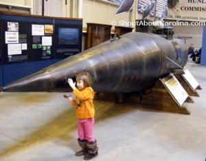 Touching Pioneer replica at Charleston Hunley museum