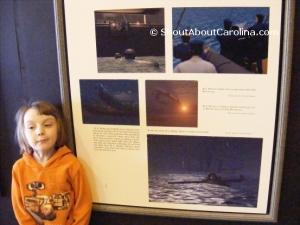 Mesmerized child at HL Hunley Conservation Center