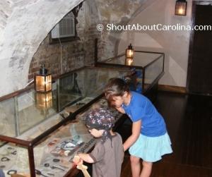 Old Exchange tour exhibits