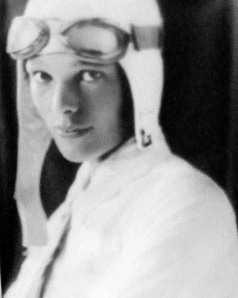 First woman ever to fly over Atlantic