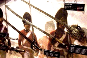 1700s sabers swords pistols used in American Revolution