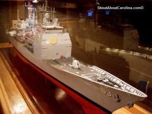 Model replica of the USS Cowpens CG-63