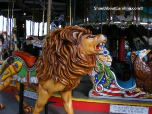 Old carousel ride Nostalgic Pavilion Amusement Park
