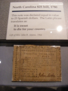Pre Revolutionary War dollars note