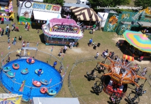 Fun rides games food at the carnival