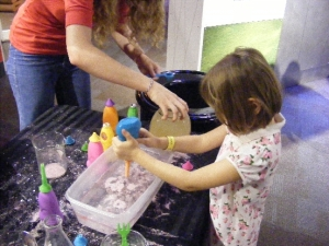 Hydrophobic sand wacky science play Charlotte museum
