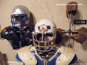 Helmet and pads design changes over 100 years