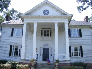 The 1830s Palladian style Kilgore-Lewis house and garden