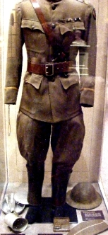 Uniform and personal items worn during WWI
