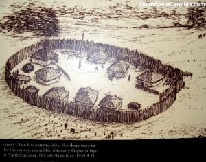 Cherokee settlements around 1250 AD