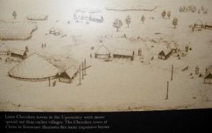 Cherokee town settlement