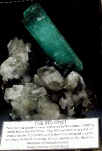 Photo of the 1,861 carats emerald discovered at the Rist Mine in 2003