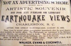 Entrepreneurs profiting from the Charleston quake of 1886